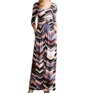 Anthropologie Maeve Boho Novela Jersey Maxi Dress